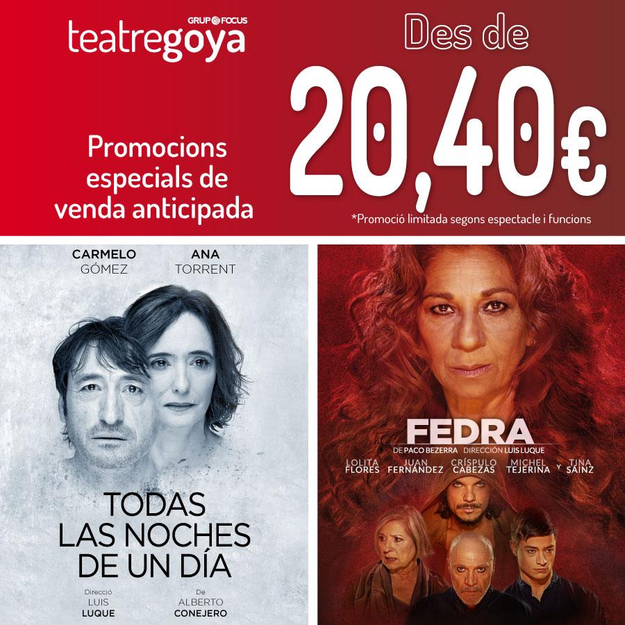 todas las noches fedra teatre goya barcelona